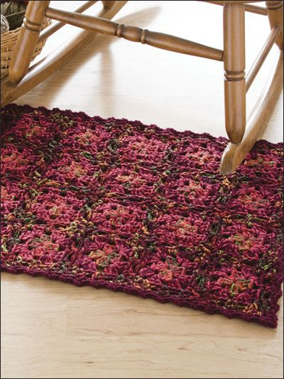 Crochet For The Home Rug Patterns Tweed Granny Design Easy Free Pattern