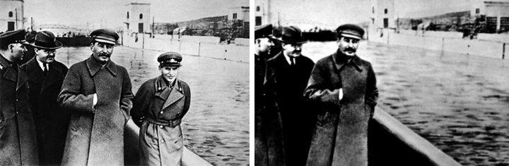 With and without Nikolai Yezhov.