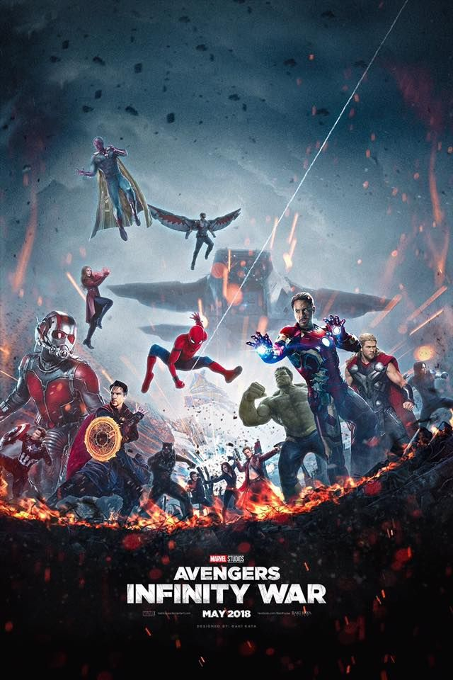 Avengers Infinity War Poster Featuring Full Avengers Team, Check out all The Infinity War Trailer Easter Eggs in The Breakdown - DigitalEntertainmentReview.com