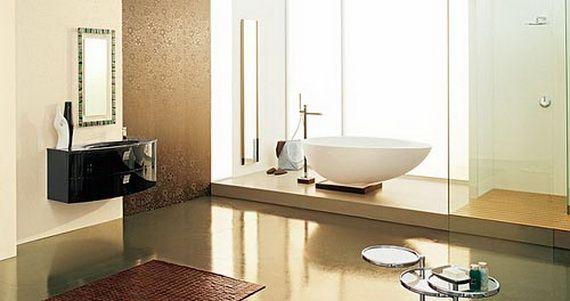 Tranquil Beige Bathrooms