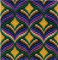 An introduction to bargello needlepoint. How to use colour to its full effect in this lovely form of canvas work.