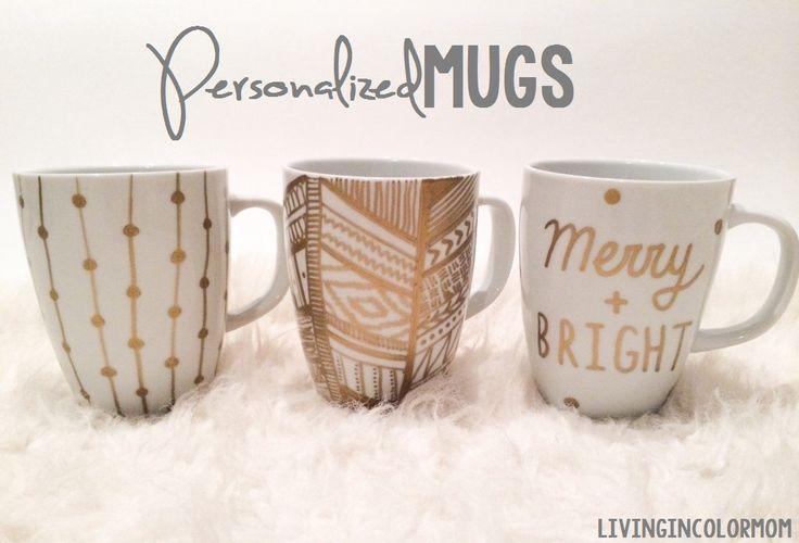 Christmas Craft: Personalized Christmas Mugs by Enjoy Utah!