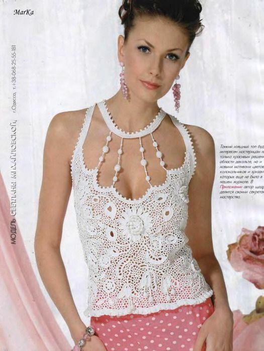 Top Sexy con Escote de Collar Patron - Patrones Crochet