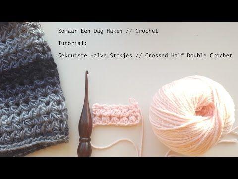Busy fingers, busy life...: Tutorial: Gekruist Half Stokje // Crossed Half Double Crochet