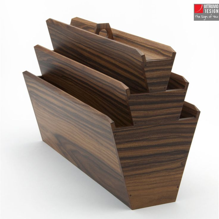 Portariviste di design in legno| Made in Italy | Vitruvio Design
