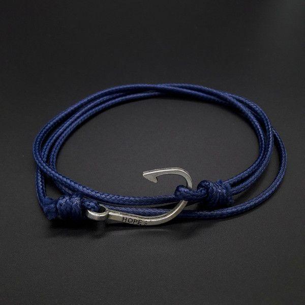 Flechtarmbänder - Wickelarmband Angelhaken - ein Designerstück von Maylea-Manufaktur bei DaWanda
