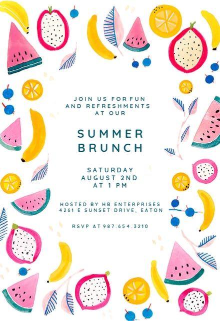 summer brunch party invitation picnic pinterest invitations