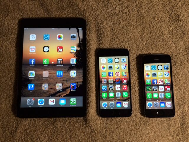 iPad mini, iPhone6, iPhone5s