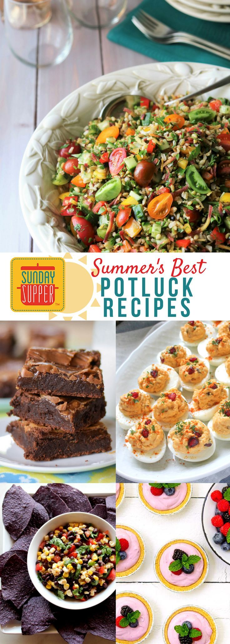 Summertime goes hand in hand with picnics, barbecues, and family reunions. In my experience, most of these events are potluck! Potluck means dishes are contributed by the guests at your gathering, so you are taking a chance that the recipes will be good. That's where the luck comes in. Some of the best potluck recipes we have ever encountered are dishes that someone else brought to the potluck! #SundaySupper