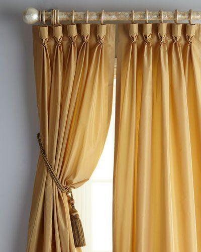 "Each 20""W x 108""L Goblet-Pleat Kate Curtain"