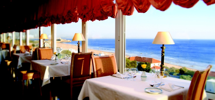 Restaurant overlooking the sea at Hotel Praia Mar, Carcavelos by Thema Hotels, Lisbon Region, Portugal