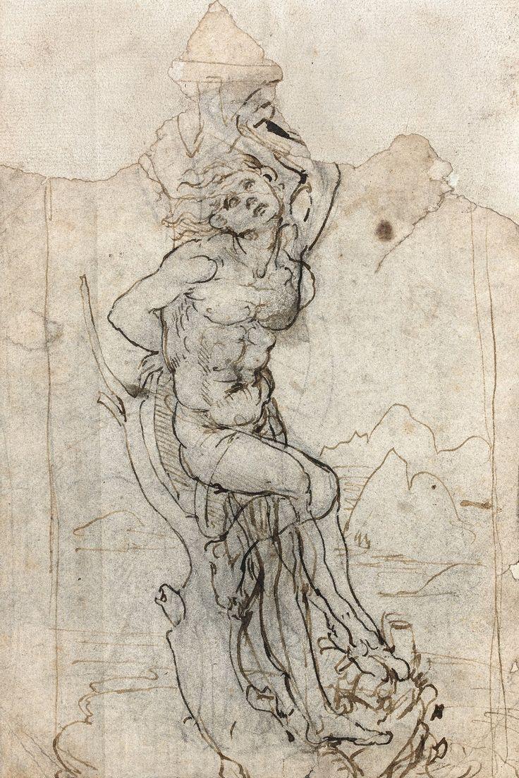 Неизвесный рисунок Леонардо Да Винчи