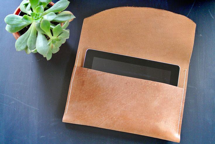 DIY: leather tablet case