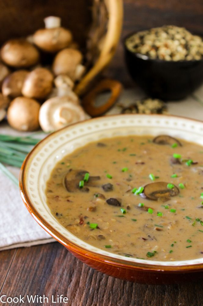 Finally! A Wild Rice & Mushroom Soup that is full of rich,