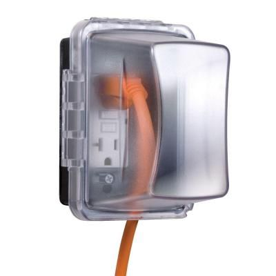Taymac Weatherproof Single Outlet Cover Outdoor Re.
