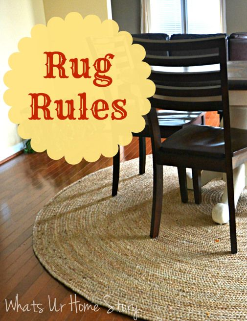 Decorating with rugs, Rug rules, what is the right size for a rug www.whatsurhomestory.com