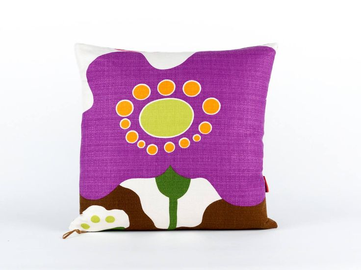 Modern Pillow Cover 18x18, throw pillow, large couch pillow, designer pillow, purple pillow cover, mid century cushion, handmade by EllaOsix by EllaOsix on Etsy
