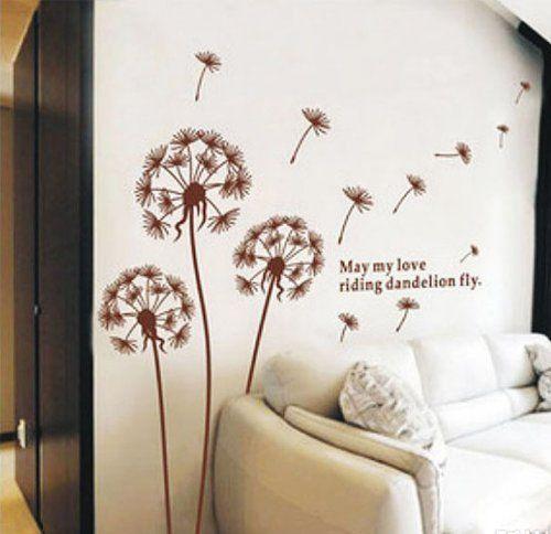 Adesivi da parete, wall sticker, sticker murali a forma di soffione, 3 pezzi marrone, molto bello medio, 170*150 cm. di alta qualità, decorazione perfetta a casa, un'opera d'arte consigliatissimo di Fuloon, http://www.amazon.it/dp/B008NZ4GFE/ref=cm_sw_r_pi_dp_eiXmsb1TNVGNA