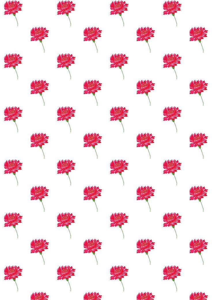 FREE printable floral pattern paper ♡