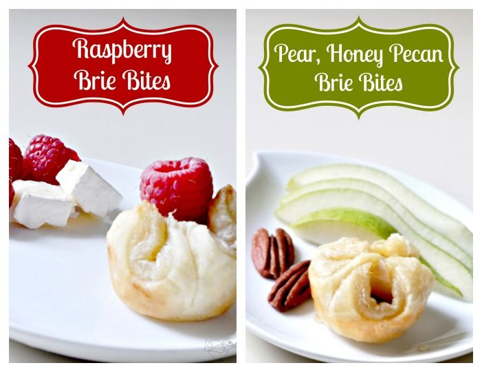 Fabulous Brie Bites are perfect to serve for a party or a special date night in. Try both Raspberry Brie Bites AND Pear, Honey Pecan Brie Bites.
