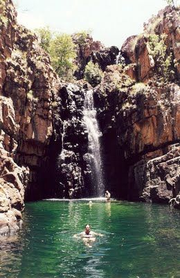 Rock Pool, Kakadu National Park. Looking forward to swim like him? http://www.way-away.es/que-ver-en/australia-jun-sep/australia-por-libre-en-21-dias-jun-sep/