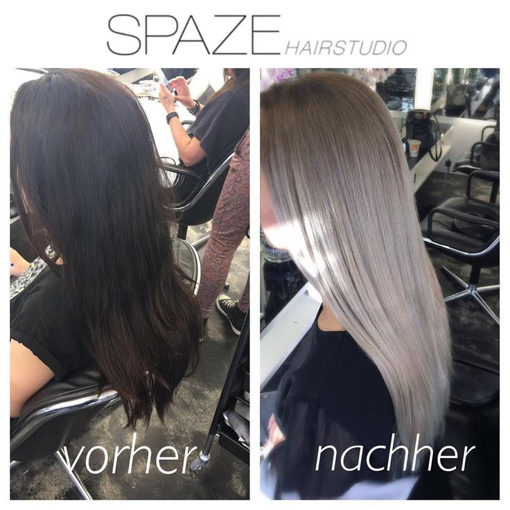 von dunkelbraun auf silberblond in 2 behandlungen und natürlich mit olaplex #beforeandafter | #spazehairstudio #spaze #silverhair #blacktoblonde #olaplex #bleach #sassoon #bestproducts #justthebest #weloveyourhair #nodamage