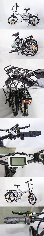 GreenBike USA Electric Motor Power Bicycle Lithium Battery Bike - FULL SUSPENSION (Silver)