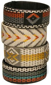cana flecha (a cane) braided bracelets by the Zenu INdians of Colombia - wide size.