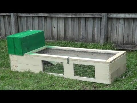 Cheap D.I.Y rabbit guinea pig run hutch for under $50. All built out of treated…