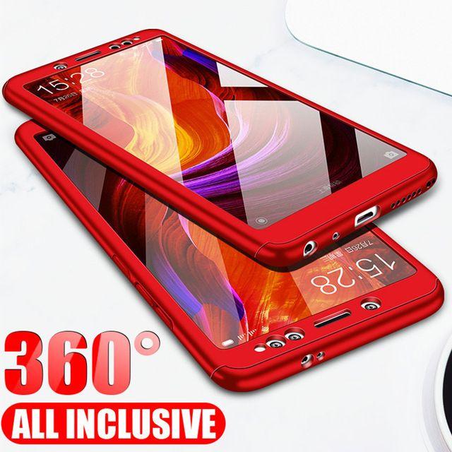 360 Case For Xiaomi Mi A2 Lite A1 Mix 2 Mi5s Mi 8 Glass Pocophone F1 Case On Redmi 3s 4a S2 6a 4 5 Plus Note 4x 5a Prime 5 Plastic Case Xiaomi Phone Case Cover