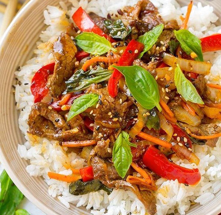 Thai Basil Beef Bowls | Food Recipes