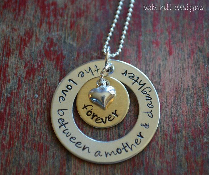 hand stamped necklacemother & daughter jewelry by OakHillDesigns, $39.00