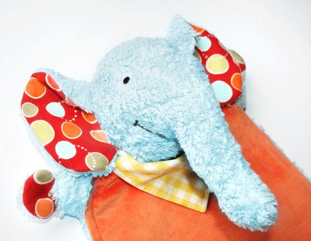 "Nähanleitungen Kind - Schnittmuster Schnuffeltuch Elefant ""Kumi&... - ein Designerstück von kullaloo bei DaWanda"