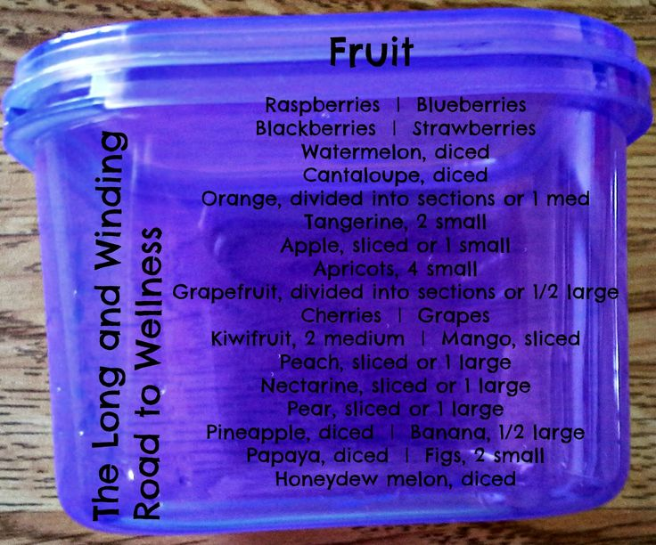 Purple Container:  Fruit #21DayFix (>1 Cup)