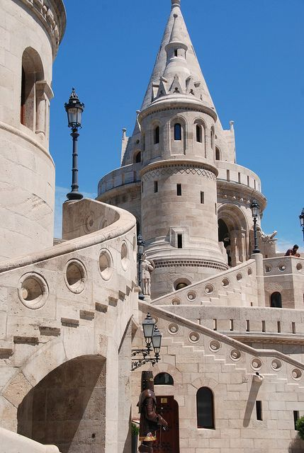 Take a closer look at the Fisherman's Bastion in Budapest, Hungary.