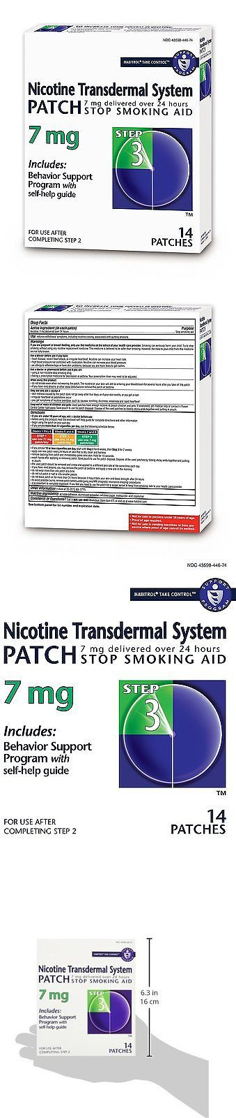 Patches: Habitrol Nicotine Transdermal System Stop Smoking Aid, Step 3 7 Mg, 14 Patches BUY IT NOW ONLY: $32.99