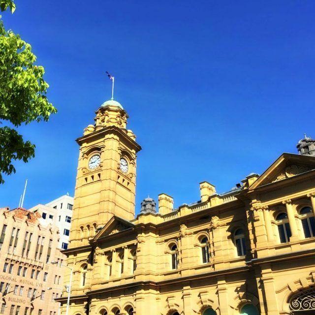 Blue skies over Hobart Tasmania in the summer ~ article and photo for think-tasmania.com ~ #Hobart #Tasmania #summer
