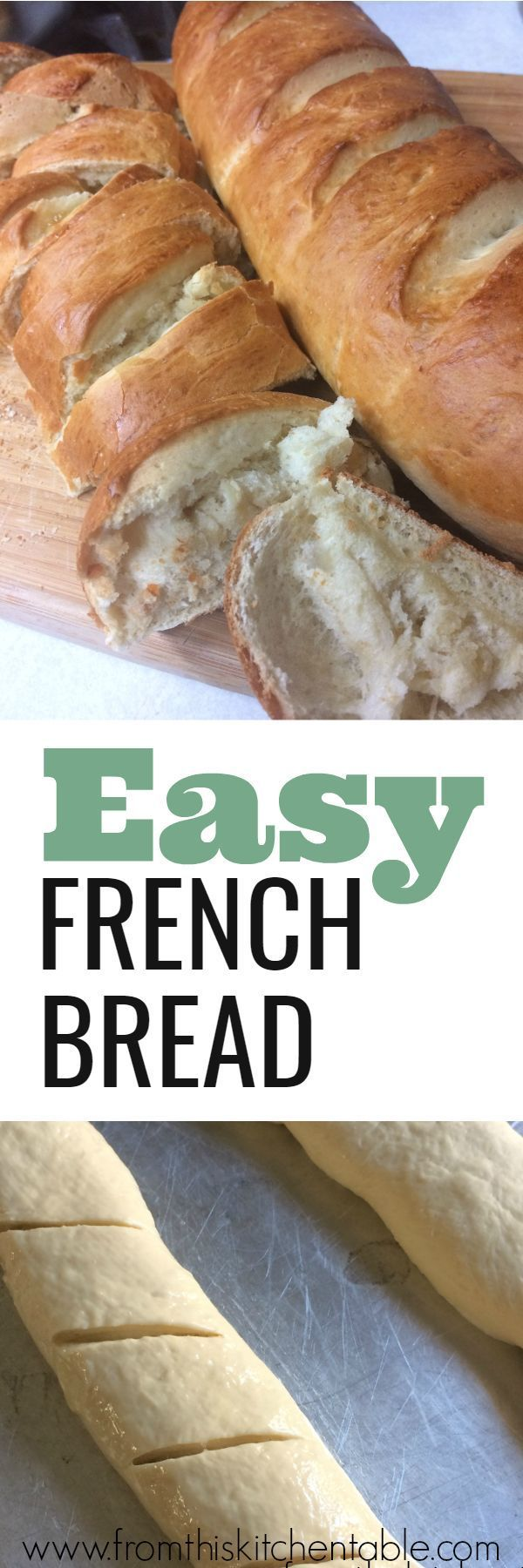 Homemade French Bread is amazing and super simple to make - you need this recipe. So tasty and the perfect addition to any supper. #bread #homemade #frenchbread #yeast #flour #easy #supper