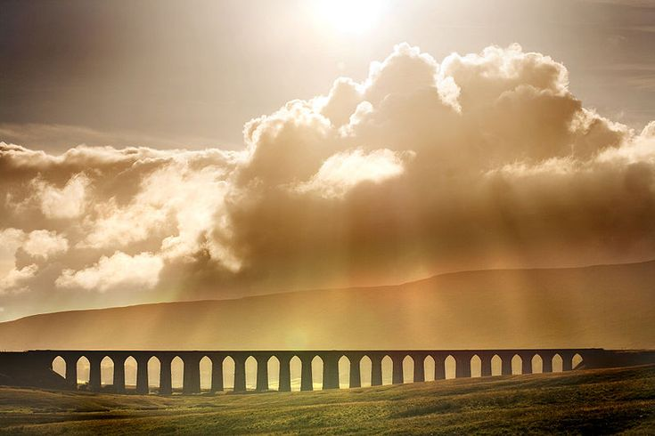 Ribblehead Viaduct in North Yorkshire UK.