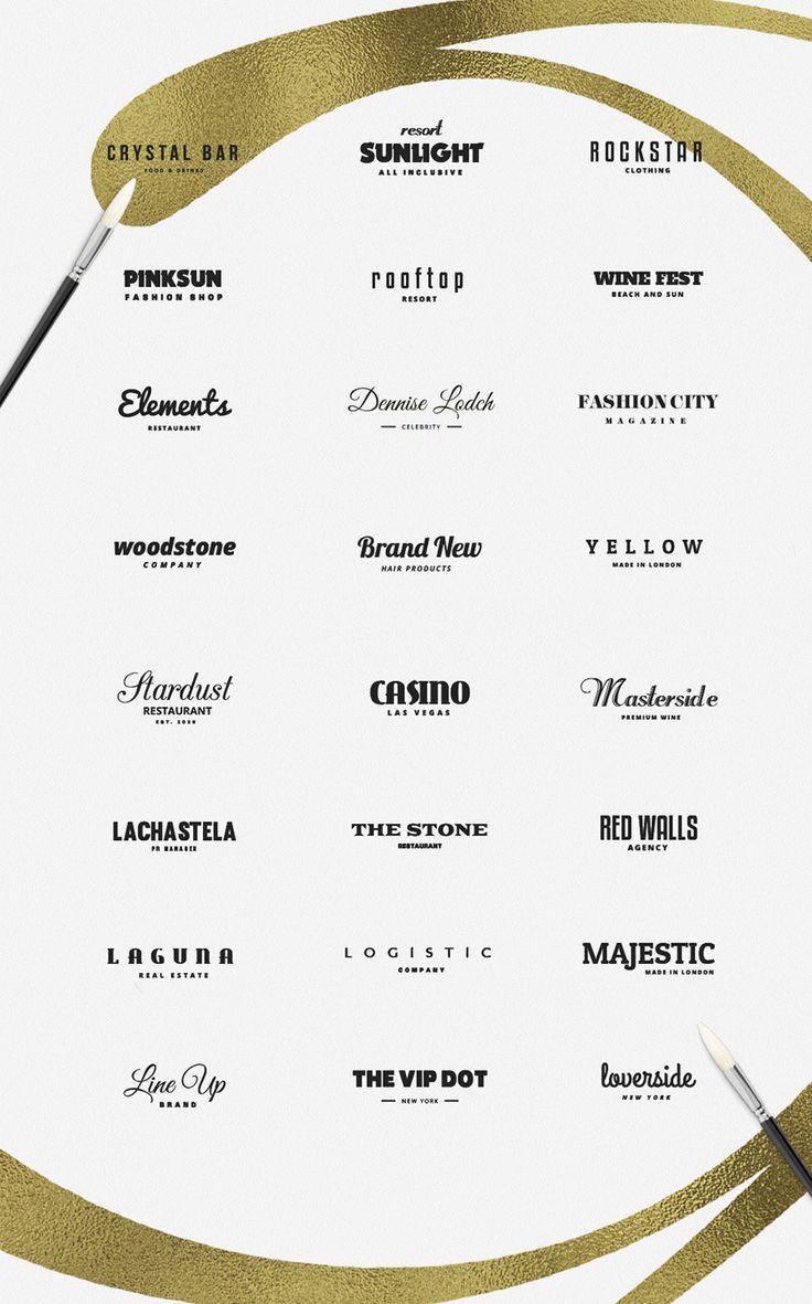 25 premade typography logos.