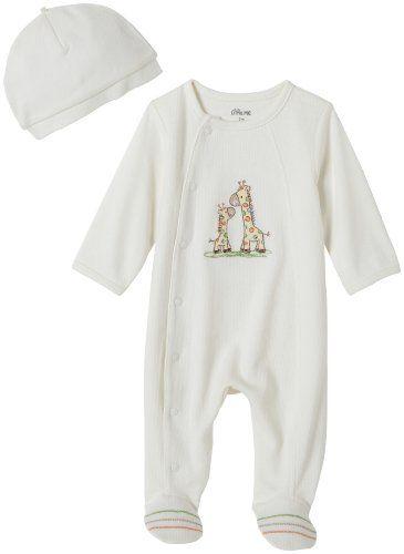 Little Me Layette Footie, Giraffe, Ivory, Newborn