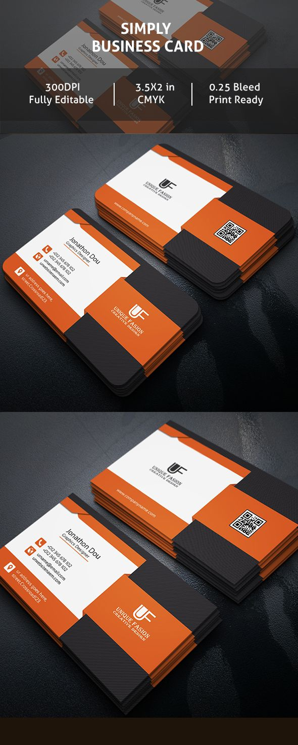 29 best creative business card design images on pinterest creative simply psd business card reheart Image collections