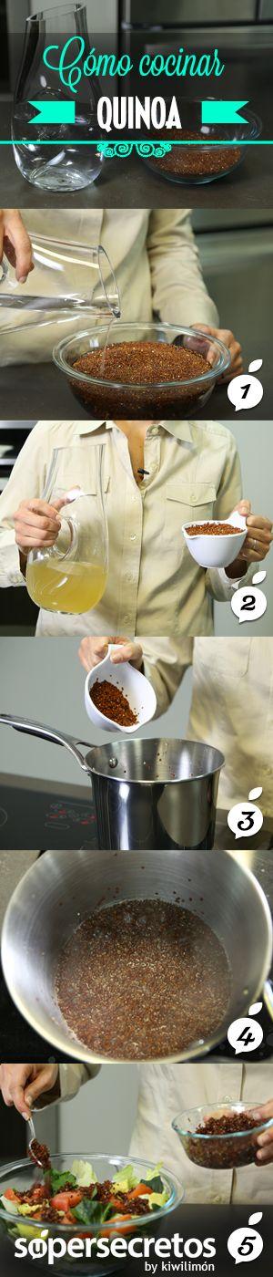La quinoa es un súper alimento, aprende a prepararla con este Súper Secreto de kiwilimón.