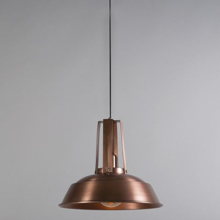 Lámpara colgante JOOP cobre #industrial #diseño #interiorismo