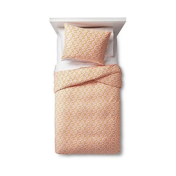 Feline Frolic Duvet Cover Set ($30) ❤ liked on Polyvore featuring home, bed & bath, bedding, duvet covers, orange white pink, twin duvet set, cheetah bed set, patterned bedding, orange bedding and orange duvet