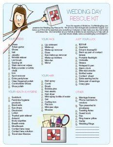 wedding ceremony checklist | wedding wedding planning , owd wedding day rescue kit 232x300
