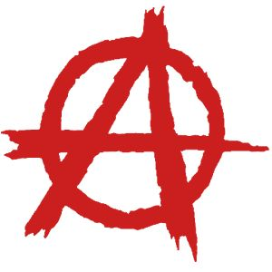 Fondo animado 3D con simbolo de Anarquia