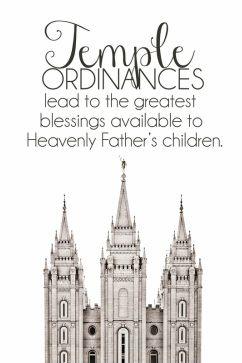 YW July Lesson Handout. Temple Ordinances. Power Point. Free printable