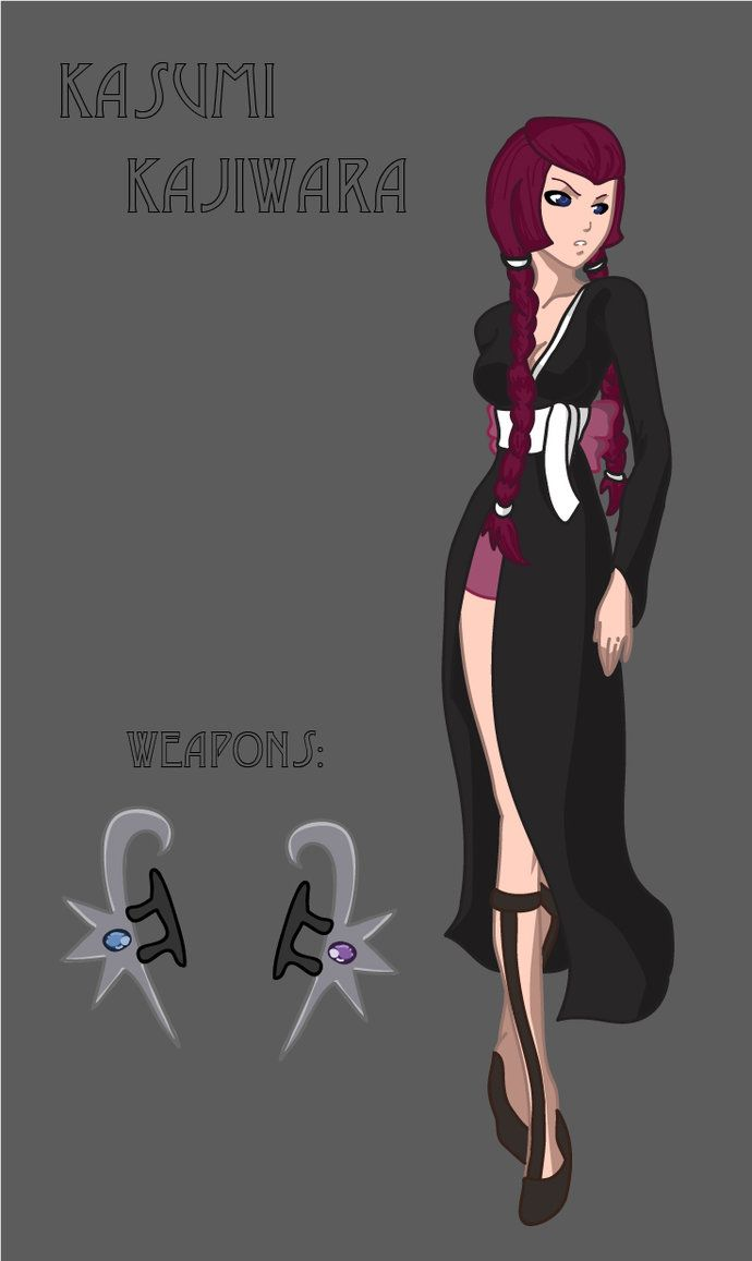 """My Awesome Fan Character for the Anime """"Bleach"""" Check out more about her here:  http://pandorarose22.deviantart.com/art/Kasumi-bleach-450897266"""