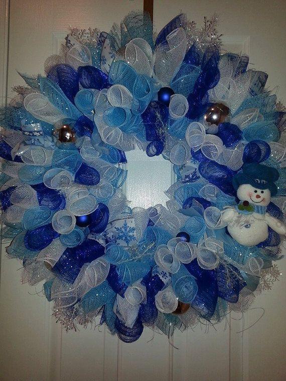 Deco Mesh Snowman Christmas Wreath Deco Mesh Navidad